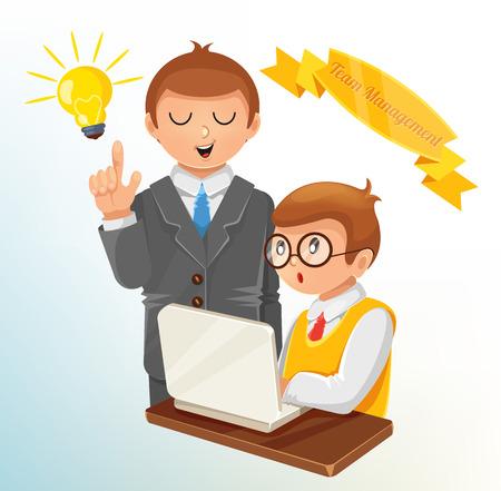 staff training: Vector Team Management Concept Illustration Illustration