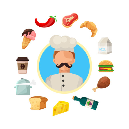 Vector Cooking And Food Icons Vector