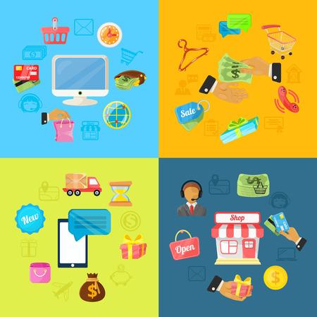 e commerce: Vector E Commerce Illustration
