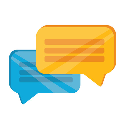 Vector Chat Flat Icon  Vector