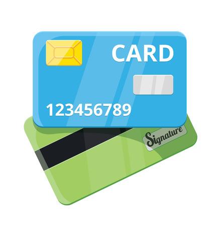 tarjeta visa: Tarjeta de crédito Vector Icon Flat
