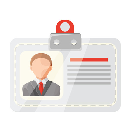 Vector Identification Card Flat Icon Vector