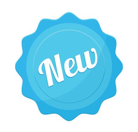 badge vector: Vector New Badge Flat Icon Illustration