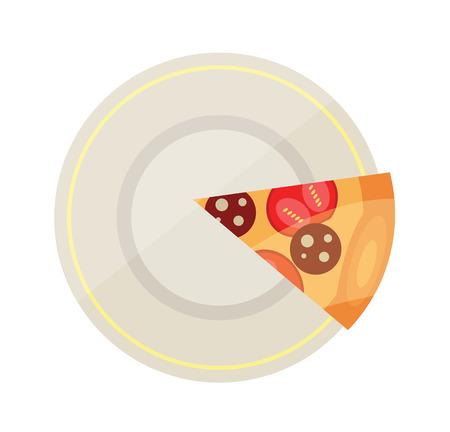 talian: Vector Pizza Flat Icon