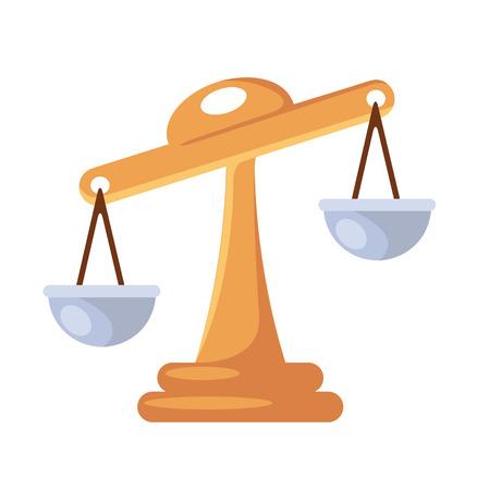 unbiased: Vector Scales Flat Icon
