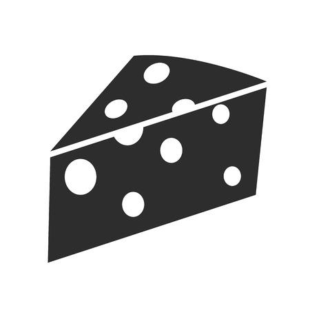 chees: Cheese Black Icon Illustration