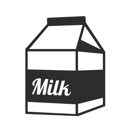pinta: Vector Milk Package Black Icon Illustration