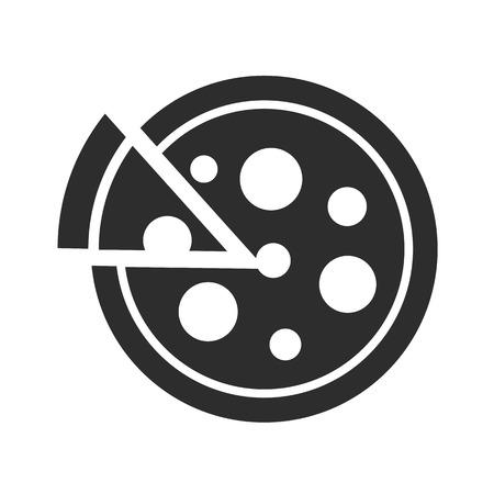 Pizza Black Icon Illustration