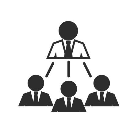 team management: Team Management Black Icon Illustration