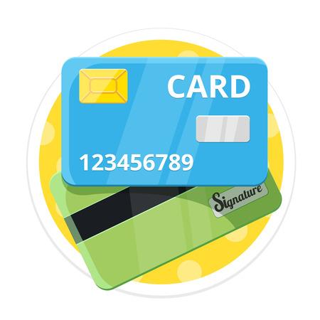 visa credit card: Credit Card Flat Round Icon