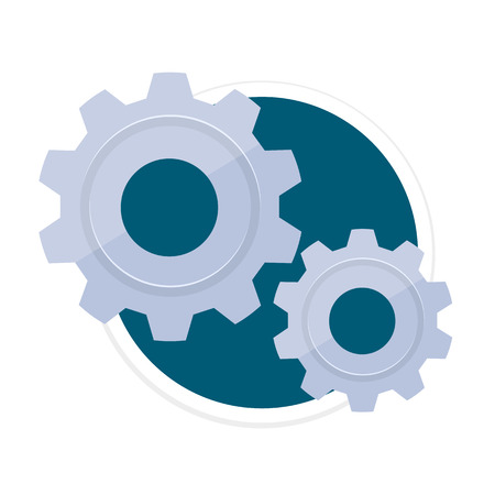 customize: Gears Flat Round Icon