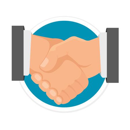 Handshake Flat Round Icon