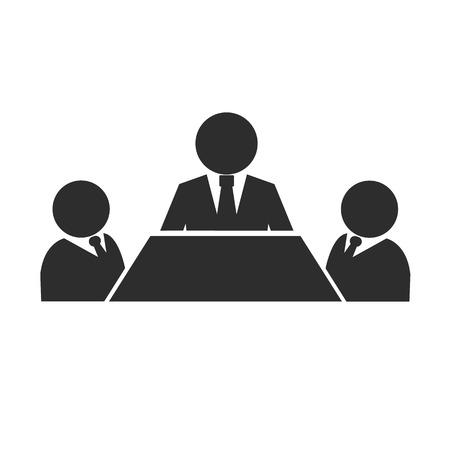 turn table: Business Meeting Black Icon  Illustration
