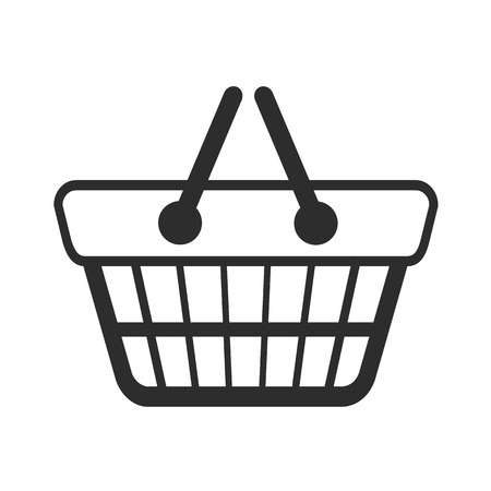 gift cart: Shopping Cart Black Icon  Illustration