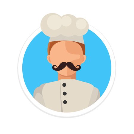 old kitchen: Vector Flat Chef Round Icon