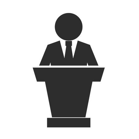 public speaker: Speaker Black Icon Illustration