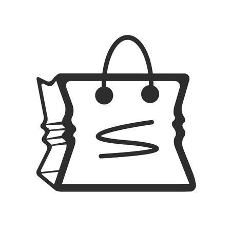 comerce: Bag Black Icon Illustration