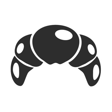 Croissant Black Icon Vector