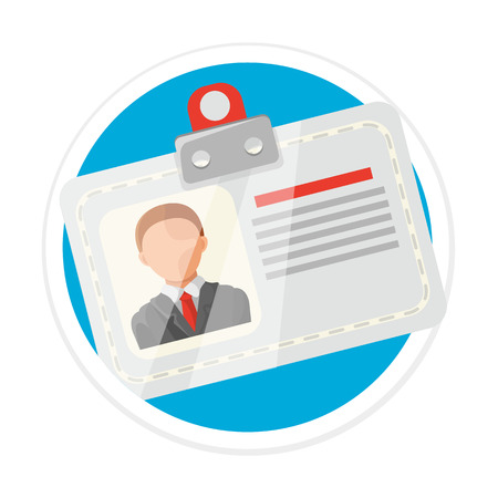 Identification Card Flat Round Icon