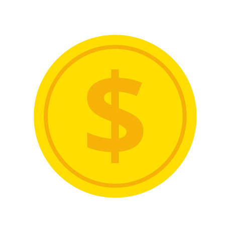 penny: Gold Coin Flat Icon