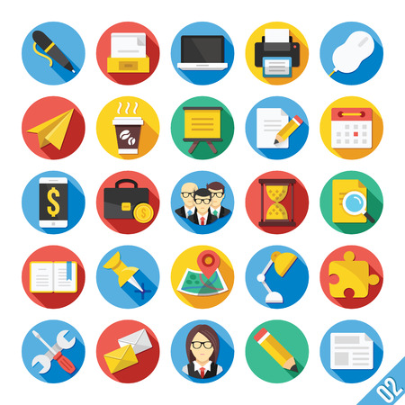 event planning: Modern Vector Flat Icons Set 2
