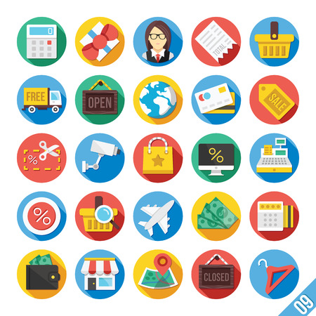 Modern Vector Flat Icons Set 9 Vector