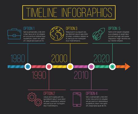 Vector Timeline Infographics 02 Vector