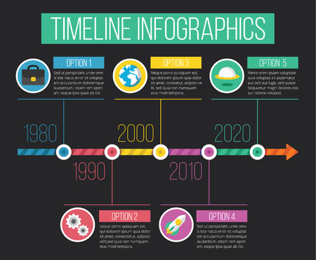 chronological: Vector Timeline Infographics 03