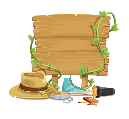 summer break: Adventure tourism vector flat simple illustration set Illustration
