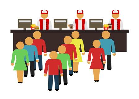 junk food fast food: Stock vector cartoon flat fast food design icon set Illustration