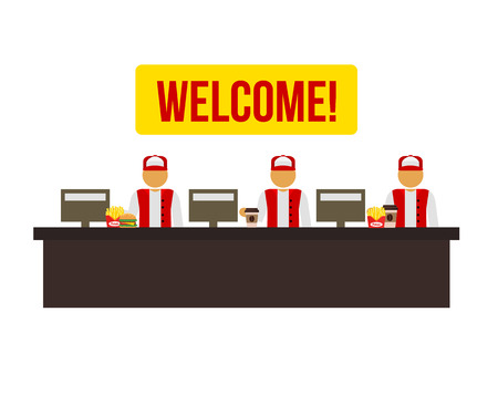 Stock vector cashiers icon illustration Vectores