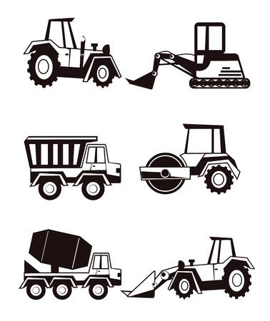 Stock vector construction machine pictogram icon set Vector