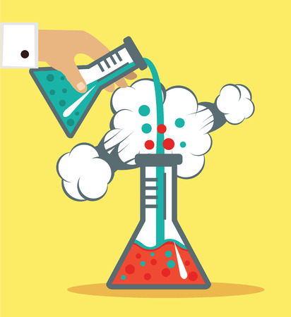 beaker: Chemistry vector illustration