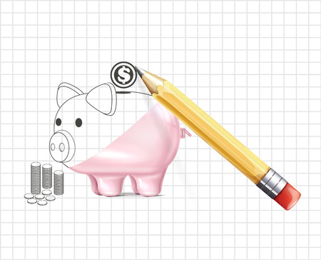 Piggy bank business illustration Vector