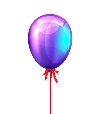 realism: Party balloon. Vector illustration