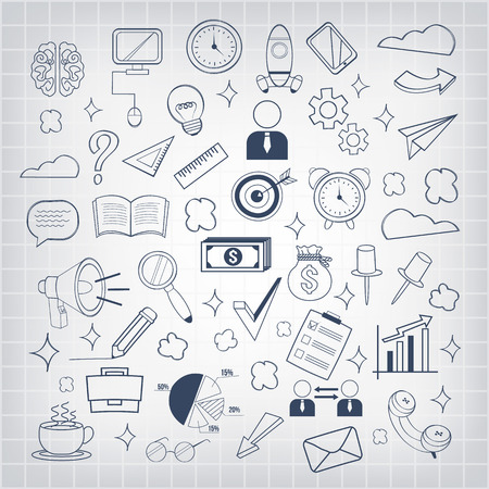 Vector business doodles icon Vector