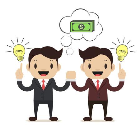 Business Idea. Vector flat illustration Vetores
