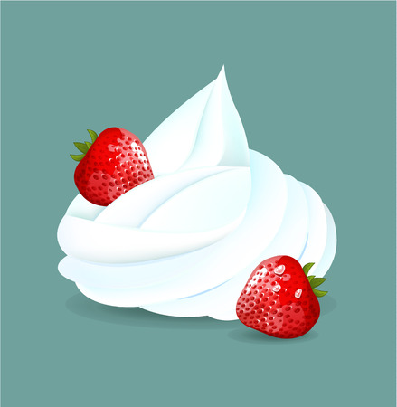 whipped: Whipped cream. Vector illustration