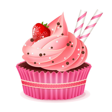 fancy cakes: Cupcake vector illustration Illustration