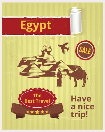 fayer: Egypt vector banner Illustration