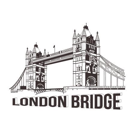 Vector tower bridge. London illustration Illustration