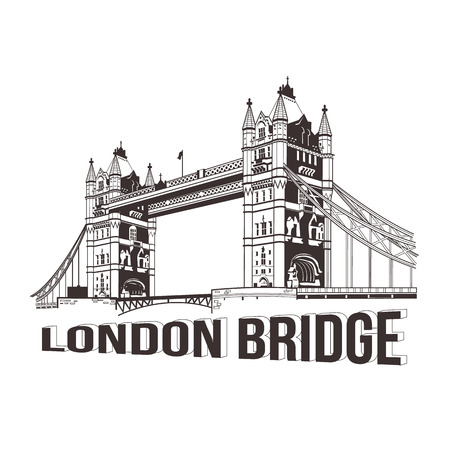 london tower bridge: Vector tower bridge. London illustration Illustration