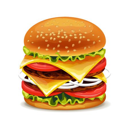 hamburger: hamburger vector illustration