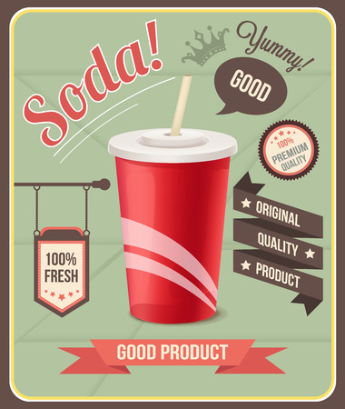 coffee background: Vector soda banner Illustration