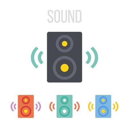 speaker: Vector iconos de los altavoces de audio