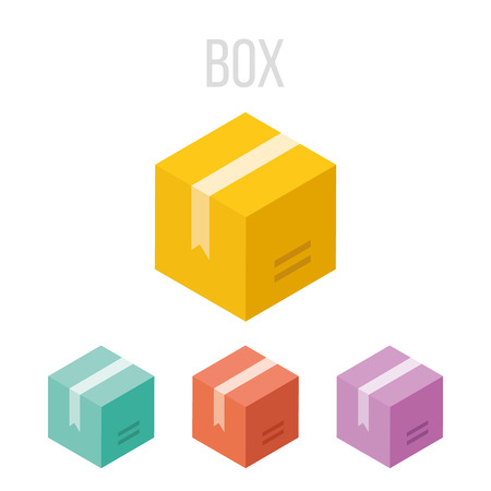 moving site: Vector box icons