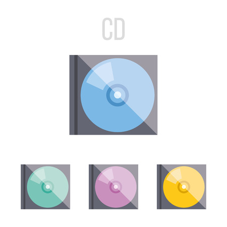 cd r: Vector CD icons Illustration