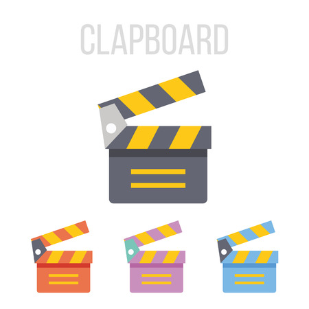 clapboard: Vector clapboard icons Illustration