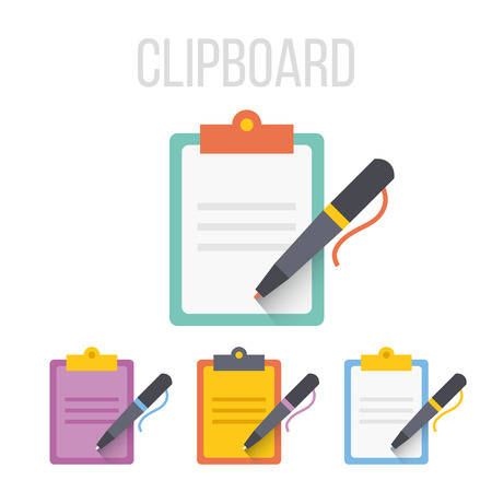 Vector clipboard icons Ilustrace