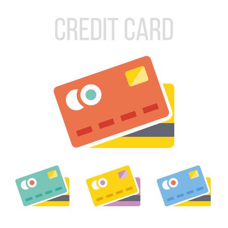 ベクトルのクレジット カードのアイコン